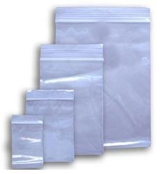 plastične vrečke z zadrgo 40 x 60 mm, prozorne, 50 kos