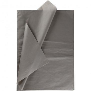 svilen papir (Tissue Paper) 14 g, 50x70 cm, siva b., 1 kos