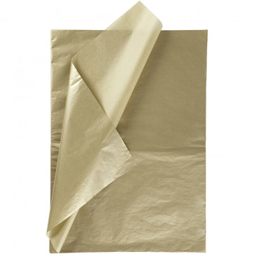 svilen papir (Tissue Paper) 14 g, 50x70 cm, zlata b., 1 kos