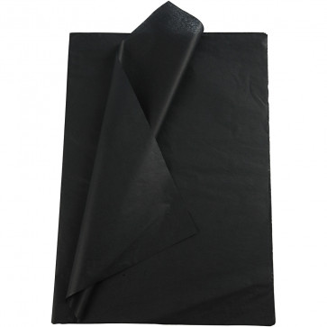 svilen papir (Tissue Paper) 14 g, 50x70 cm, črna b., 1 kos