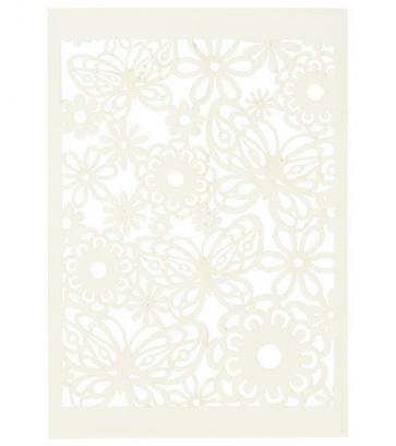 "okrasni papir, čipka, 10,5x15 cm, 200 g,  ""off white"" umazano bele b., 1 kos"