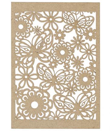 okrasni papir, čipka, 10,5x15 cm, 200 g, rjave b., 1 kos