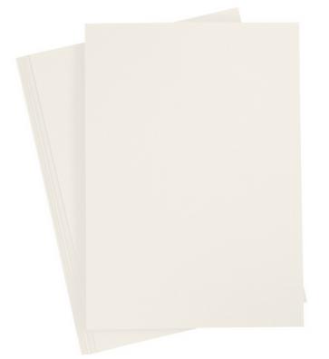 """papir A4 s fino teksturo na eni strani, """"off white"""" umazano bele b., 210x297 mm, 220 g, 1 kos"""