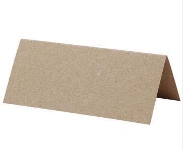 kartica za sedežni red, rjava b., relief tekstura, 9x4 cm, 220 g, 1 kos