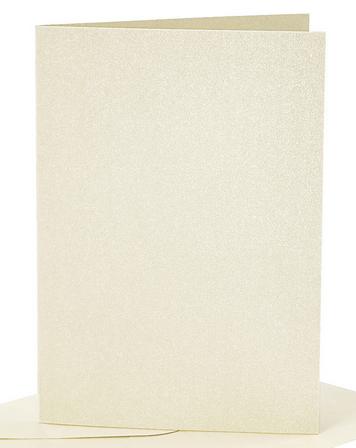 osnova za vabila, 10,5x15 cm, 210 g,  bleščeča - šampanjec barva, 1 kos
