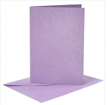 kuverta, 11,5x16,5 cm, 120 g,  blešče vijolična b., 1 kos