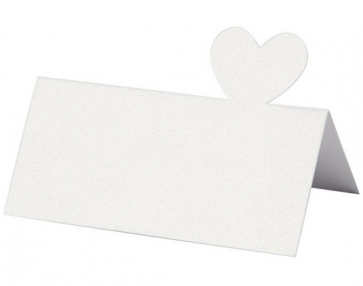 kartica za sedežni red, bela, 8,5x5 cm, 120 g, 1 kos