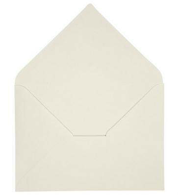 """kuverta, 11,5x16,5 cm, 110 g, """"off white"""" umazano bela b., 1 kos"""