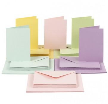 kuverta, 11,5x16,5 cm, 120 g,  pastelno zelena b., 1 kos