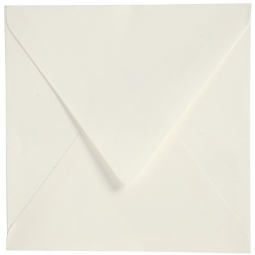 kuverta, 16x16 cm, 120 g, bele b., 1 kos