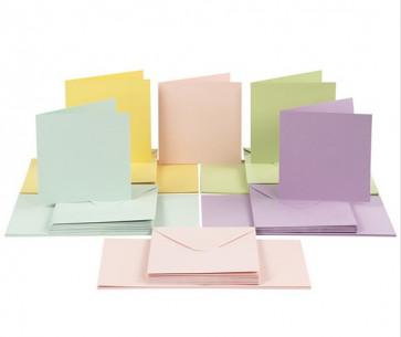 kuverta, 16x16 cm, 120 g, pastelno roza b., 1 kos