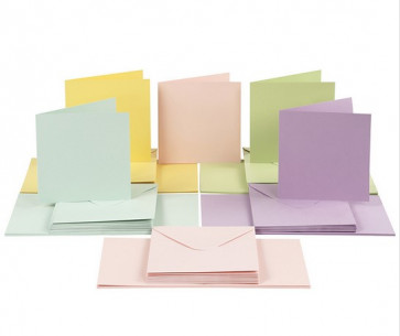 kuverta, 16x16 cm, 120 g, pastelno modra b., 1 kos