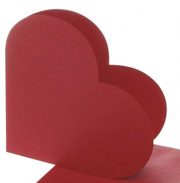 osnova za vabila, srce, 12,5x12,5 cm, 220 g, rdeča bele b., 1 kos