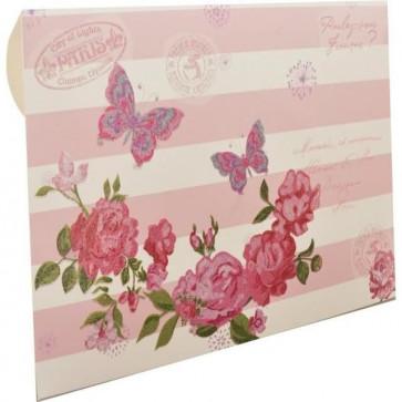 """kuverta za darilne bone """" Metulji in vrtnice"""", 22x15.5 cm, 1 kos"""