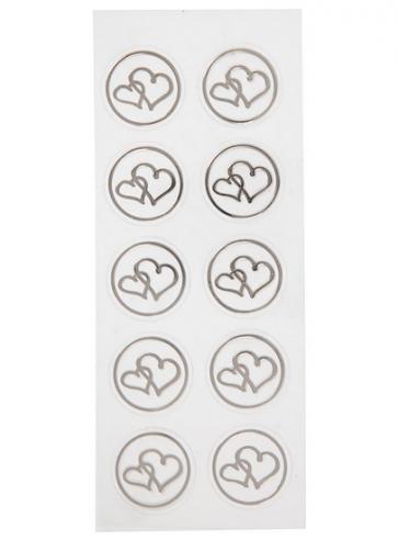 nalepke, 7,8x15,5 cm, samolepilne, srebrne b., prozorne, 1 pola (10 kos)