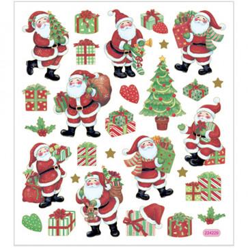 nalepke 15x16,5 cm, samolepilne, božične, 1 pola (29 nalepk)