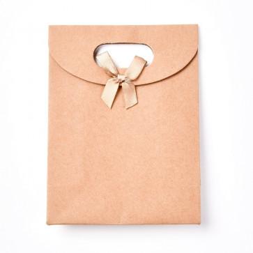 vrečka iz kartona 16x11.7x6.2 cm, rjava b., 1 kos