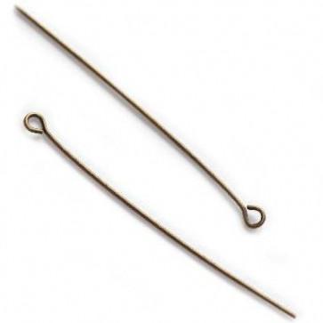 igla za perle z zanko 5 cm, antik, 10 kos