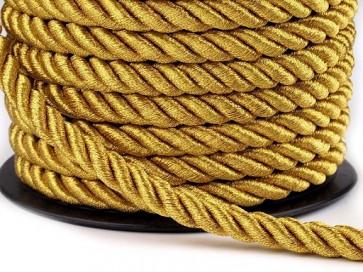 prepletena vrvica, 7 mm, zlata b., 1 m