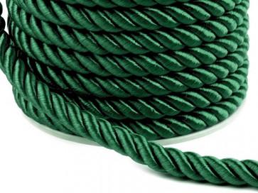 prepletena vrvica, 7 mm, t. zelena b., 1 m