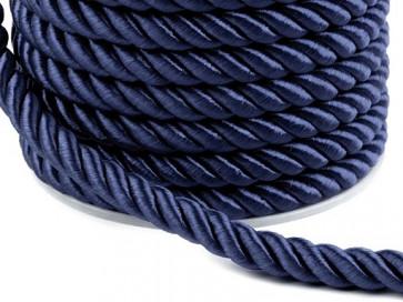 prepletena vrvica, 7 mm, temno modra b., 1 m