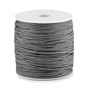 bombažna vrvica 1,5 mm, siva, povoščena, 85 m