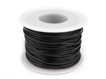 EKO usnjena vrvica 1,5 mm, črna, 1 m