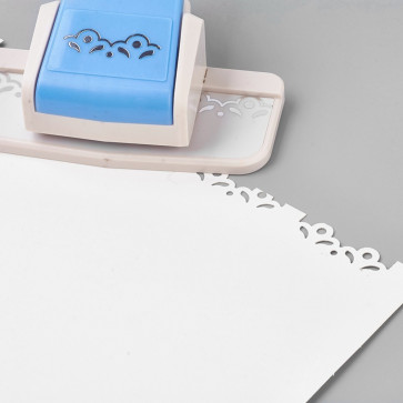 luknjač za papir - veliki obrobni z motivom, 12x8.7x5.1 cm, 1 kos
