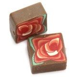 fimo perle kvadratne 10 mm, rjave, 5 kos