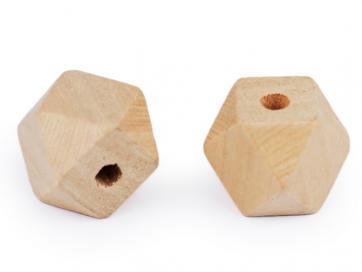 lesene perle, nepravilne oblike, 20x26 mm, luknja 3,5 mm, 1 kos