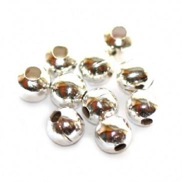 kovinske perle 4 mm, srebrne barve, 500 kos