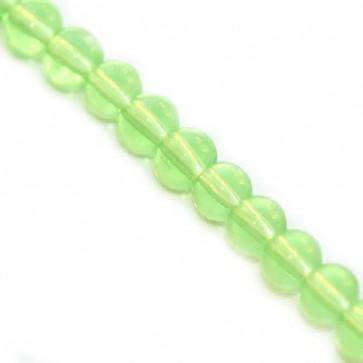 steklene perle 3 mm, zelene, 1 niz - 32 cm