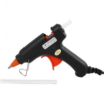 mini pištola za lepljenje pri nizki temperaturi (110°C), debelina vložka: 7 mm (2 kosa lepila vključena), 1 kos