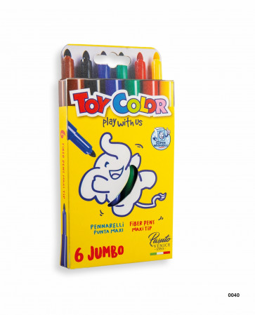 otroški flomastri na vodni osnovi Toy Color - pralni, konica: 5 mm, 1 komplet (6 kosov)