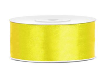 satenast trak, rumena b., širina: 25 mm, dolžina: 25 m, 1 kos