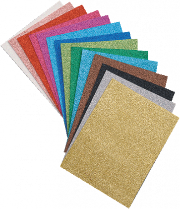 """penasta guma """"moosgumi"""", z bleščicami, 20x30 cm, debelina: 2 mm, zlata b., 1 kos"""
