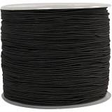 elastična vrvica 1 mm, črna, 1 m