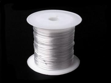 elastična vrvica, 1 mm, bela b., dolžina: 10 m