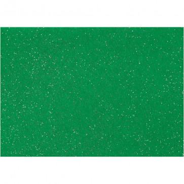 filc debeline 1 mm, zeleni z bleščicami, A4 21x30 cm, 1 kos