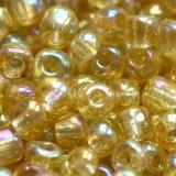 steklene perle 3,5 mm, medeno zlate, svetlikajoče, 20 gr