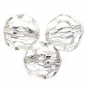 "plastične perle, ""nepravilno"" okrogle 12 mm, prozorne, 50 gr"