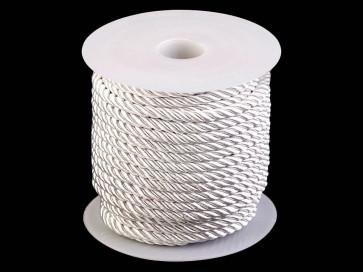 prepletena vrvica, 5 mm, bele b., 1 m