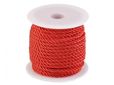 prepletena vrvica, 5 mm, rdeče b., 1 m