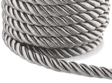 prepletena vrvica, 10 mm, sive b., 1 m