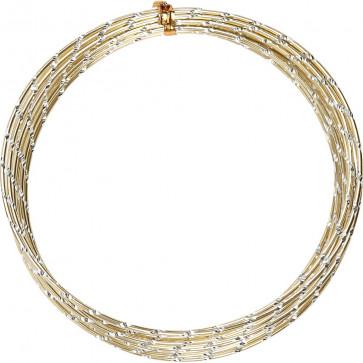 aluminijasta barvna žica za oblikovanje, 2 mm, zlata - rezana, 7 m