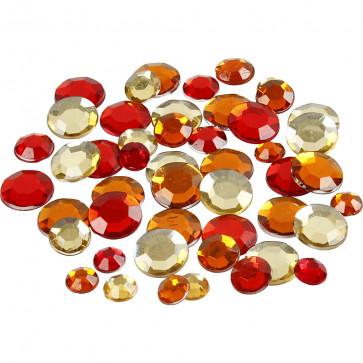 akrilni krogci, 6+9+12 mm, red harmony mix, 1 kos