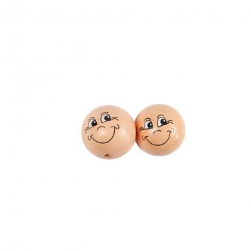 lesene perle z obrazom 30 mm, 1 kos