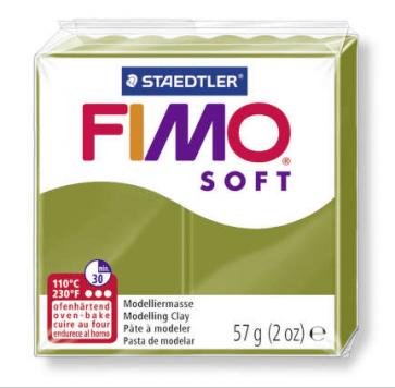 FIMO SOFT modelirna masa, olivno zelena b.(57) , 57 g