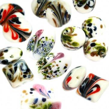 keramične perle mix, 50 kos