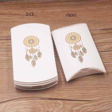 """darilna škatla z vzorcem """"lovilec sanj"""", 12x7x2 cm, bela b., 1 kos"""